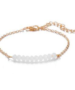 bracelet pierres blanches