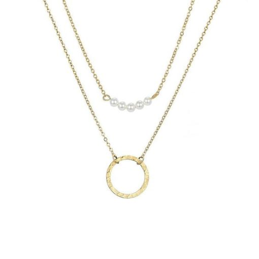 collier pendentif cercle or