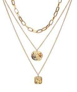 collier double medaille