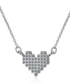 collier pendentif coeur argent