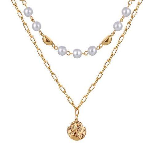 collier perles ras du cou
