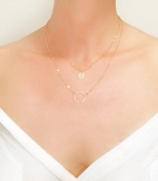 collier pendentif cercle original