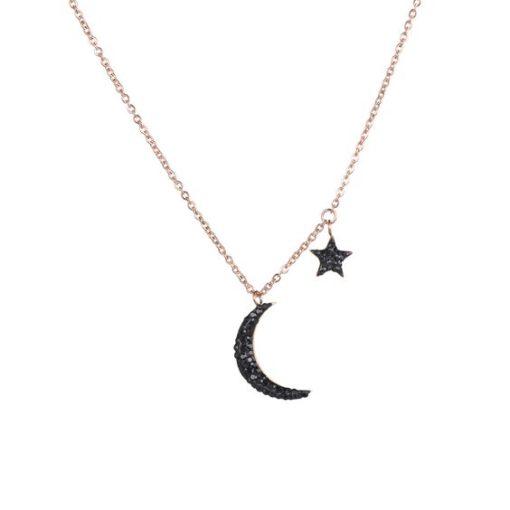 collier lune femme