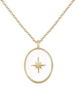 collier medaille etoile cadeau