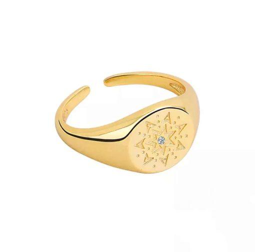bague chevaliere pour femme or