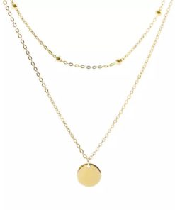 collier medaille or tendance